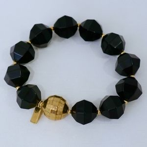 KATE SPADE~Cut to the Chase~BLACK BAUBLE BRACELET